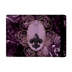 Soft Violett Floral Design Ipad Mini 2 Flip Cases by FantasyWorld7