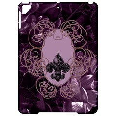 Soft Violett Floral Design Apple Ipad Pro 9 7   Hardshell Case by FantasyWorld7
