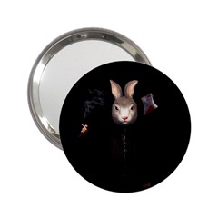 Evil Rabbit 2 25  Handbag Mirrors by Valentinaart