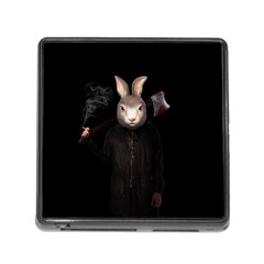 Evil Rabbit Memory Card Reader (square) by Valentinaart