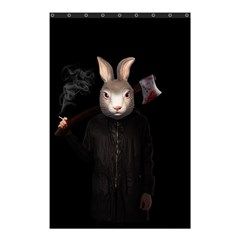 Evil Rabbit Shower Curtain 48  X 72  (small)  by Valentinaart