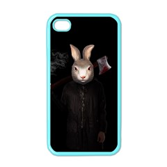 Evil Rabbit Apple Iphone 4 Case (color) by Valentinaart
