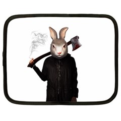 Evil Rabbit Netbook Case (large) by Valentinaart