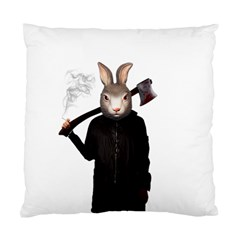 Evil Rabbit Standard Cushion Case (two Sides) by Valentinaart