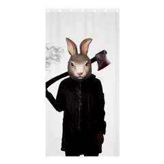 Evil Rabbit Shower Curtain 36  X 72  (stall)  by Valentinaart