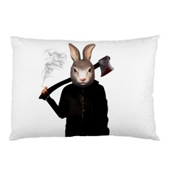 Evil Rabbit Pillow Case (two Sides) by Valentinaart