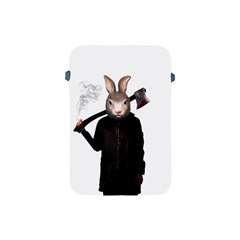 Evil Rabbit Apple Ipad Mini Protective Soft Cases by Valentinaart