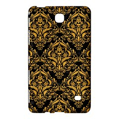 Damask1 Black Marble & Orange Colored Pencil Samsung Galaxy Tab 4 (8 ) Hardshell Case  by trendistuff
