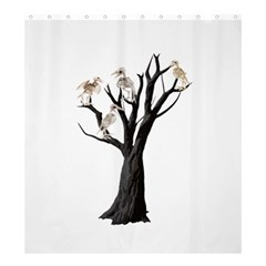 Dead Tree  Shower Curtain 66  X 72  (large)  by Valentinaart