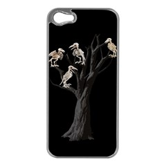 Dead Tree  Apple Iphone 5 Case (silver) by Valentinaart