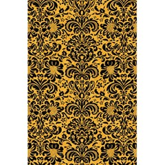 Damask2 Black Marble & Orange Colored Pencil (r) 5 5  X 8 5  Notebooks by trendistuff