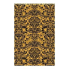 Damask2 Black Marble & Orange Colored Pencil (r) Shower Curtain 48  X 72  (small)  by trendistuff