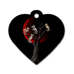 Dead Tree  Dog Tag Heart (one Side) by Valentinaart