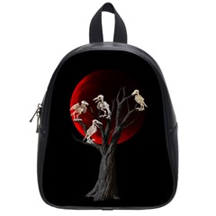 Dead Tree  School Bag (small) by Valentinaart