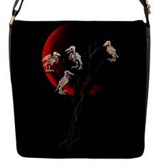 Dead Tree  Flap Messenger Bag (s) by Valentinaart