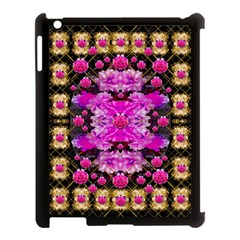 Flowers And Gold In Fauna Decorative Style Apple Ipad 3/4 Case (black) by pepitasart