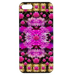 Flowers And Gold In Fauna Decorative Style Apple Iphone 5 Hardshell Case With Stand by pepitasart