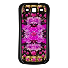 Flowers And Gold In Fauna Decorative Style Samsung Galaxy S3 Back Case (black) by pepitasart