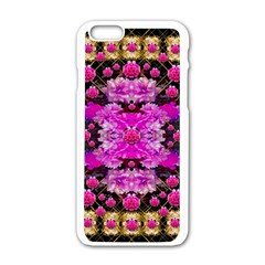 Flowers And Gold In Fauna Decorative Style Apple Iphone 6/6s White Enamel Case by pepitasart