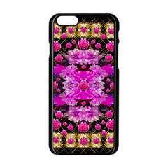 Flowers And Gold In Fauna Decorative Style Apple Iphone 6/6s Black Enamel Case by pepitasart