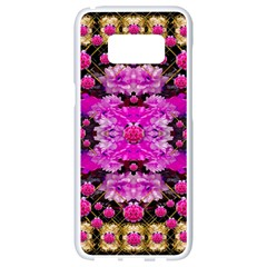 Flowers And Gold In Fauna Decorative Style Samsung Galaxy S8 White Seamless Case by pepitasart