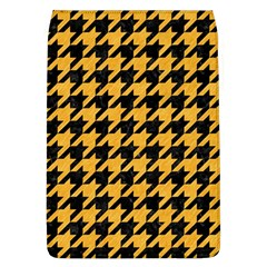 Houndstooth1 Black Marble & Orange Colored Pencil Flap Covers (l)  by trendistuff