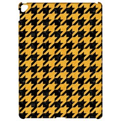 Houndstooth1 Black Marble & Orange Colored Pencil Apple Ipad Pro 12 9   Hardshell Case by trendistuff