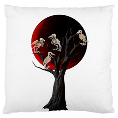 Dead Tree  Large Cushion Case (two Sides) by Valentinaart