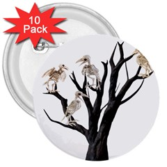 Dead Tree  3  Buttons (10 Pack)  by Valentinaart