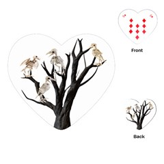 Dead Tree  Playing Cards (heart)  by Valentinaart