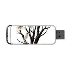 Dead Tree  Portable Usb Flash (two Sides) by Valentinaart