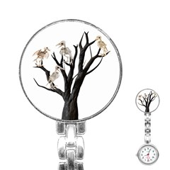 Dead Tree  Stainless Steel Nurses Watch by Valentinaart
