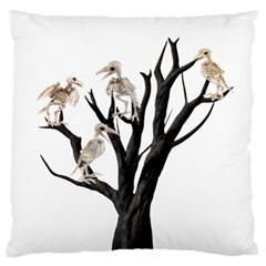 Dead Tree  Large Flano Cushion Case (one Side) by Valentinaart