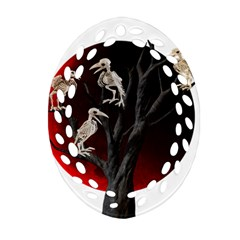 Dead Tree  Oval Filigree Ornament (two Sides)