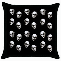 Dracula Throw Pillow Case (black) by Valentinaart