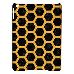 Hexagon2 Black Marble & Orange Colored Pencil Ipad Air Hardshell Cases by trendistuff