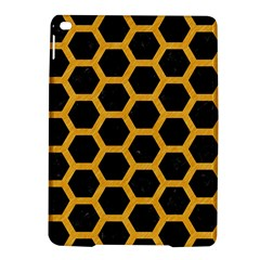 Hexagon2 Black Marble & Orange Colored Pencil Ipad Air 2 Hardshell Cases by trendistuff