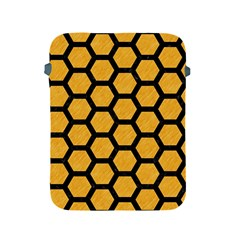 Hexagon2 Black Marble & Orange Colored Pencil (r) Apple Ipad 2/3/4 Protective Soft Cases by trendistuff