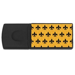 Royal1 Black Marble & Orange Colored Pencil Rectangular Usb Flash Drive by trendistuff