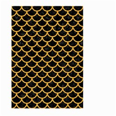 Scales1 Black Marble & Orange Colored Pencil Large Garden Flag (two Sides)
