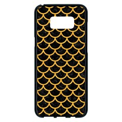 Scales1 Black Marble & Orange Colored Pencil Samsung Galaxy S8 Plus Black Seamless Case