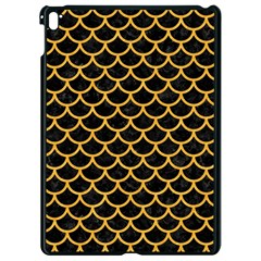Scales1 Black Marble & Orange Colored Pencil Apple Ipad Pro 9 7   Black Seamless Case by trendistuff