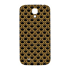 Scales2 Black Marble & Orange Colored Pencil Samsung Galaxy S4 I9500/i9505  Hardshell Back Case by trendistuff