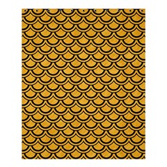 Scales2 Black Marble & Orange Colored Pencil (r) Shower Curtain 60  X 72  (medium)  by trendistuff