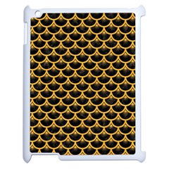 Scales3 Black Marble & Orange Colored Pencil Apple Ipad 2 Case (white) by trendistuff