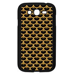 Scales3 Black Marble & Orange Colored Pencil Samsung Galaxy Grand Duos I9082 Case (black) by trendistuff