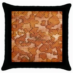 Fantasy Dungeon Maps 2 Throw Pillow Case (black) by MoreColorsinLife