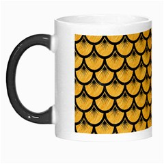 Scales3 Black Marble & Orange Colored Pencil (r) Morph Mugs by trendistuff