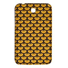 Scales3 Black Marble & Orange Colored Pencil (r) Samsung Galaxy Tab 3 (7 ) P3200 Hardshell Case  by trendistuff