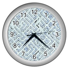 Fantasy Dungeon Maps 3 Wall Clocks (silver)  by MoreColorsinLife